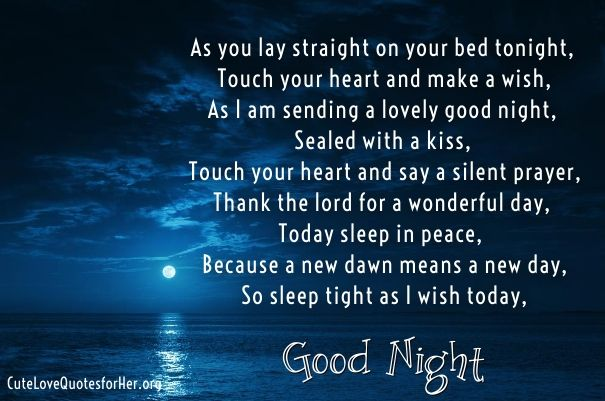 Romantic Good Night Poems For Your Girlfriend Her Cute Love Poems