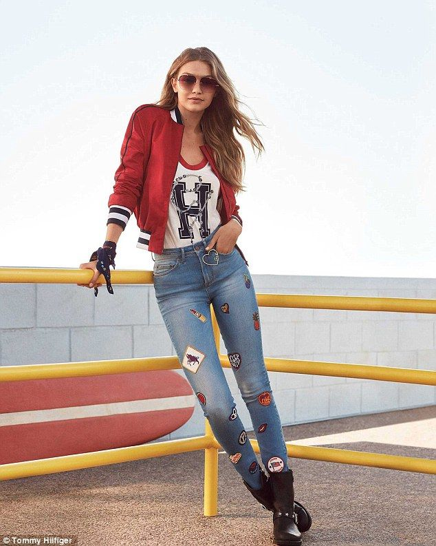 1f215647d45b6b Leading lady: Gigi was named the global ambassador of Tommy Hilfiger in  January 2016, before releasing her first capsule collection with the brand  in ...