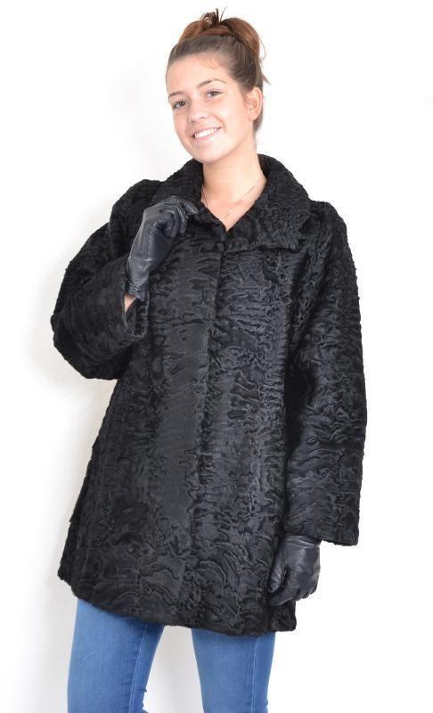 Persianer Kurzmantel Perser Jacke schwarz Größe 44