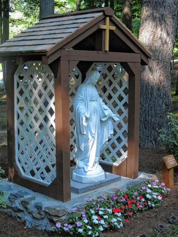 Building A Mary Grotto Out Of Wood Google Search Crafts