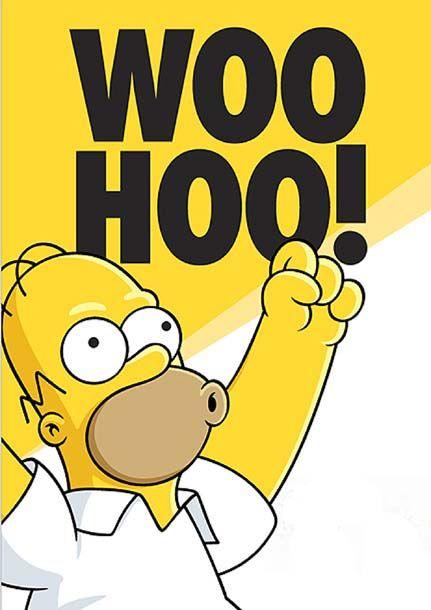 Woo Hoo | The simpsons, Simpsons funny, Homer simpson