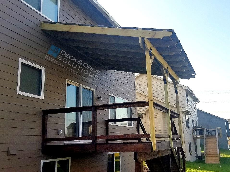 Building A Roof Over A Deck Roofing Shingles Tin Roof