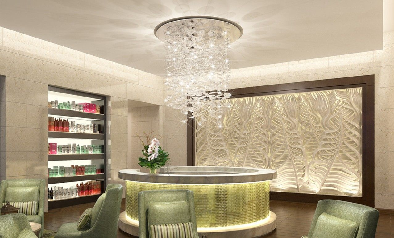 Beauty salon interior design beauty salon reception room for Salon decor