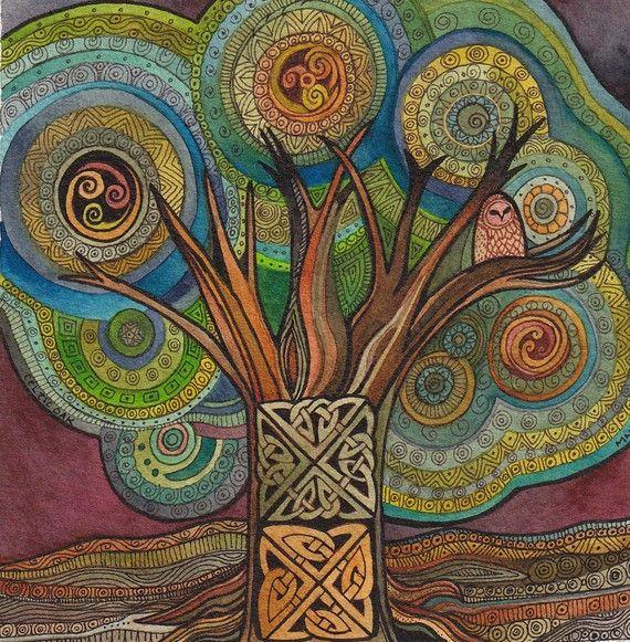 Watercolor, tangles, knotwork, everything I love - Megan Noel