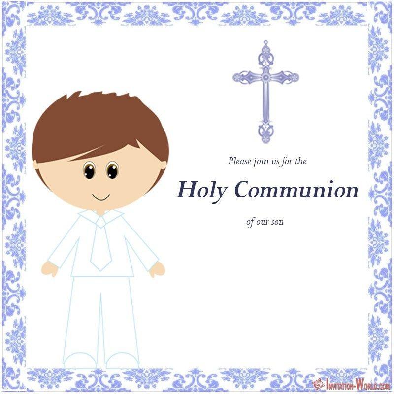 First Communion Invitation Cards Invitation World First Communion Invitations Holy Communion Invitations Communion Invitations