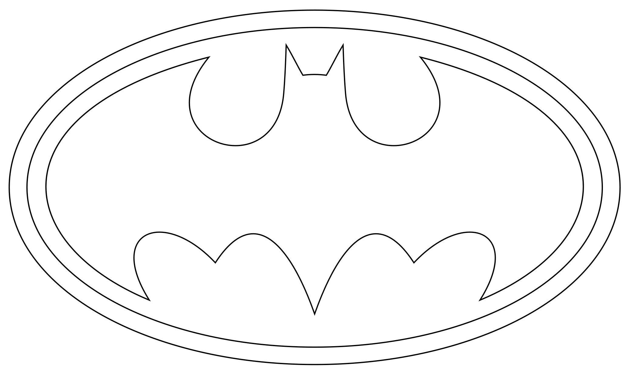 Batman Free Printable  batman logo coloring pages printables 26