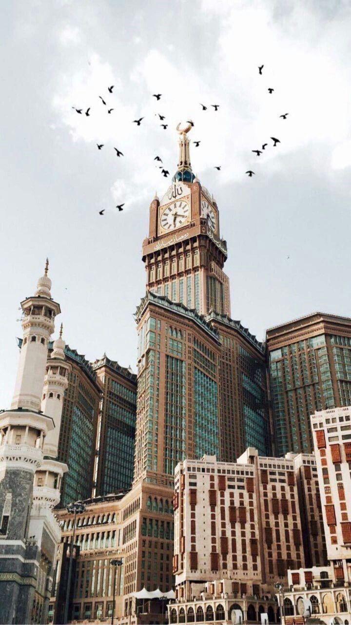 Makkah Latar Belakang Arsitektur Futuristik Pemandangan