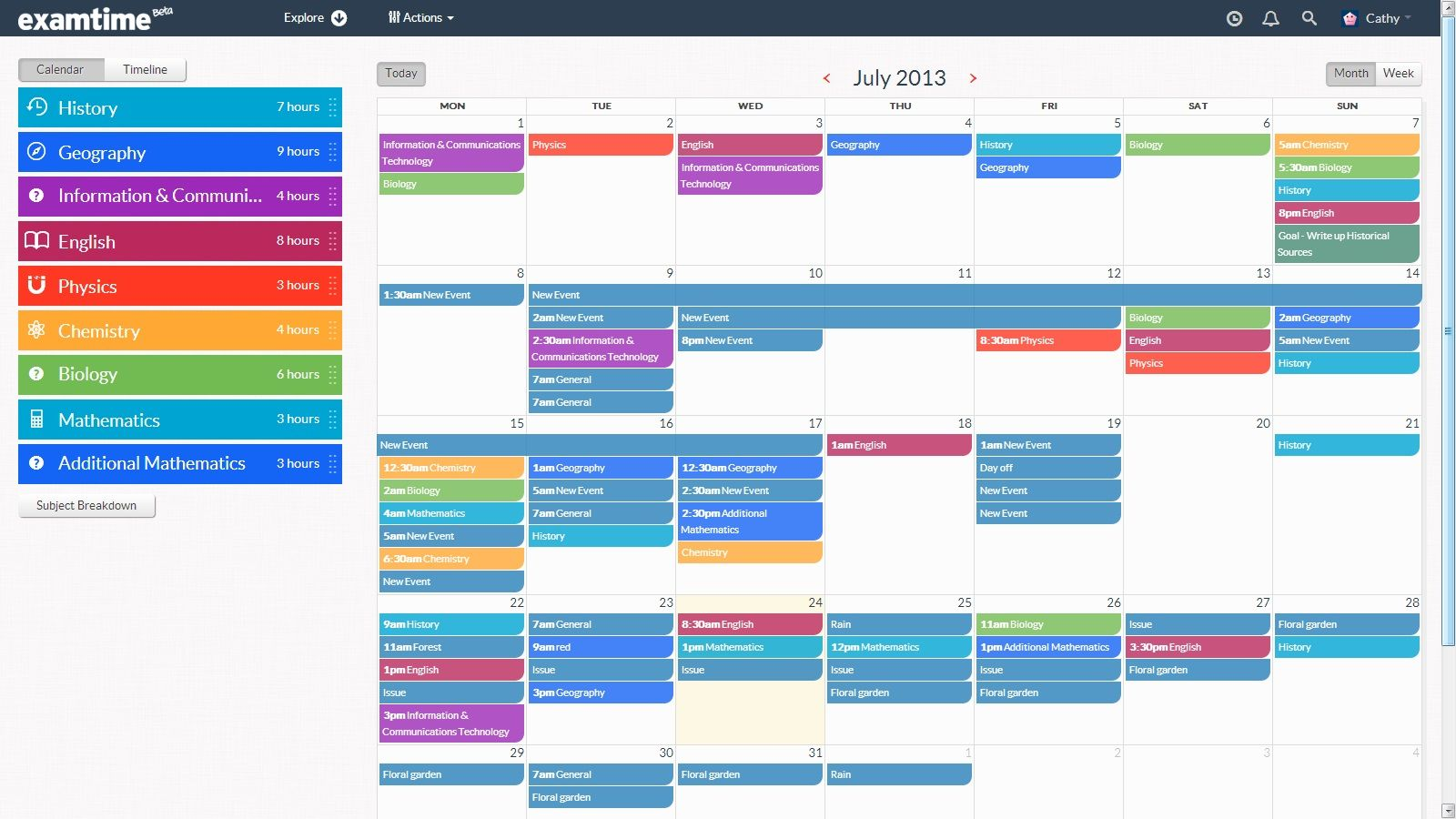 10 images about Creating a Study TimeTable – Personal Time Table Format