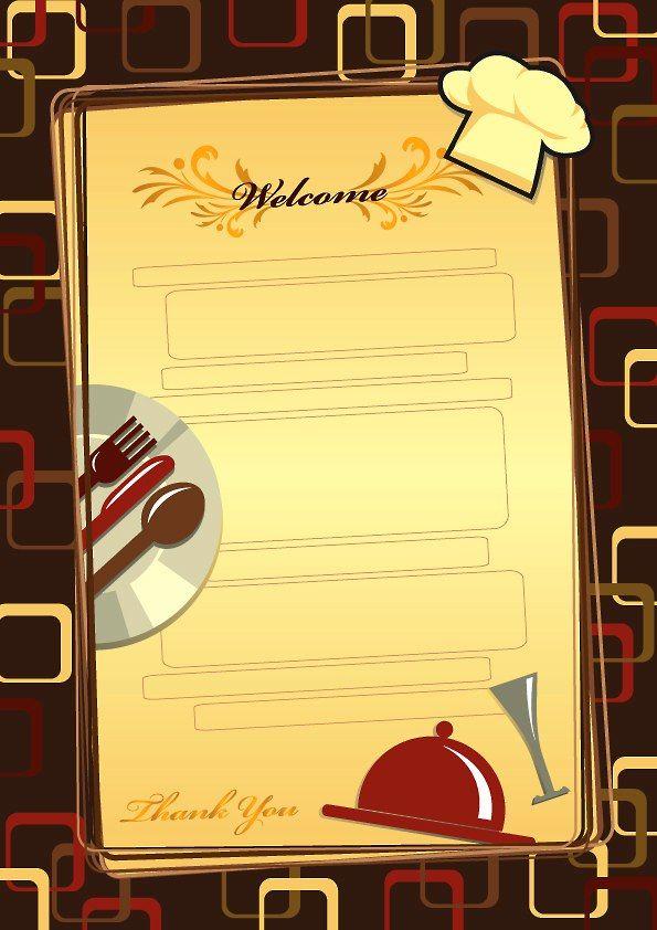 template for menu