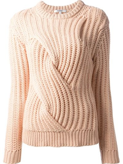 dbf94b5175ad CARVEN Chunky Cable Knit Sweater