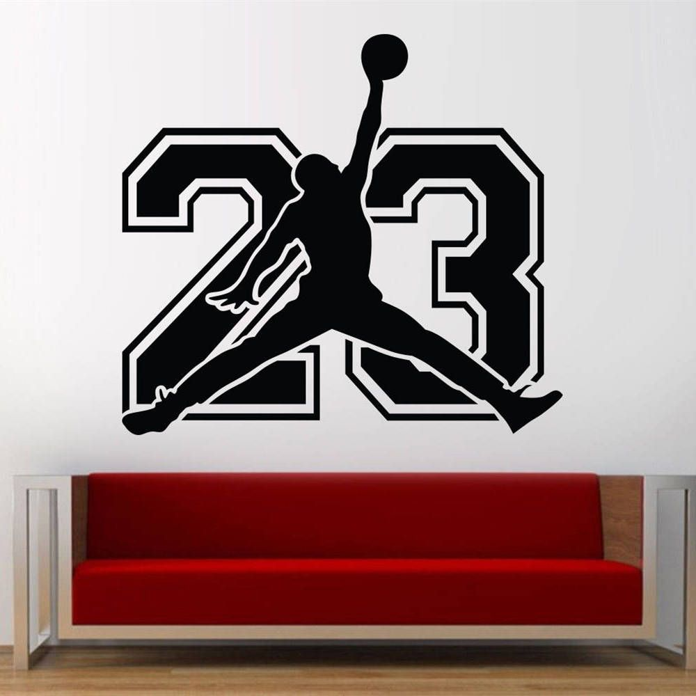 super popular e006a f9f86 Michael Jordan NBA Basketball Player Vinyl Decal Stickers Wall Art Home  Decor Sport by CreativedesignshopGB on Etsy