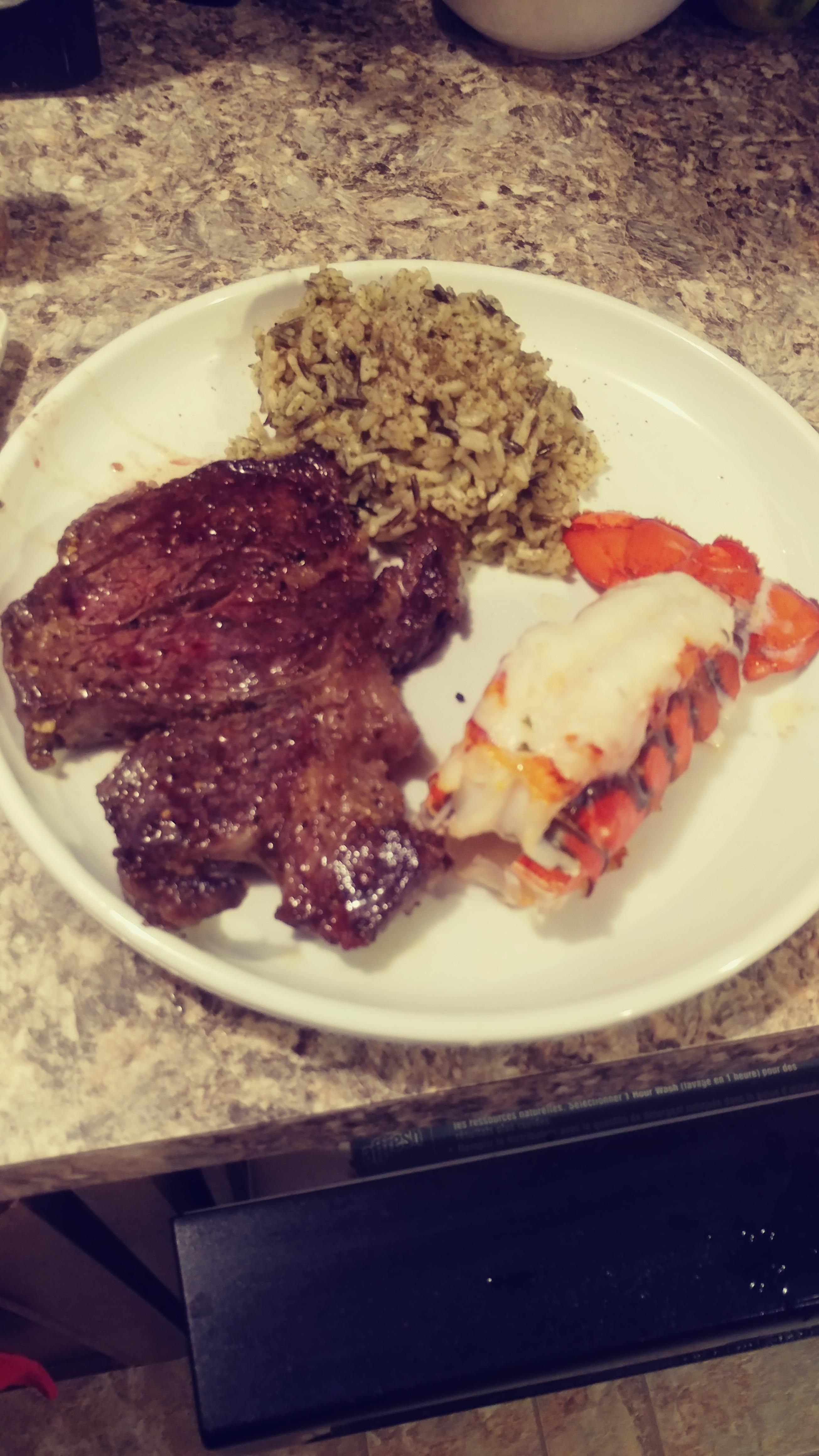 Made surf and turf for the wifes 30th bday Shes spoiled