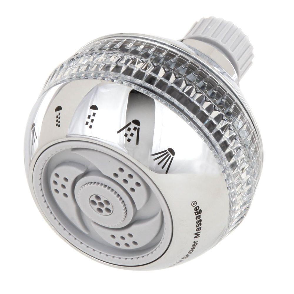 Waterpik Original Shower Massage 6 Spray Showerhead In Chrome SM 623CG   The