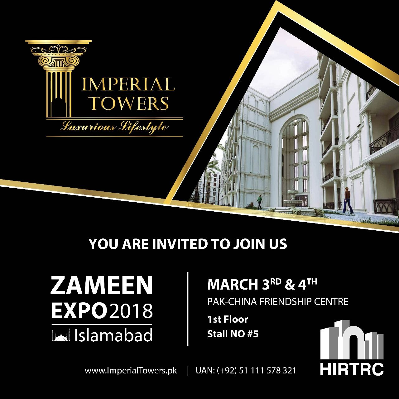 IMPERIAL TOWERS Is Participating In Zameen Expo 2018