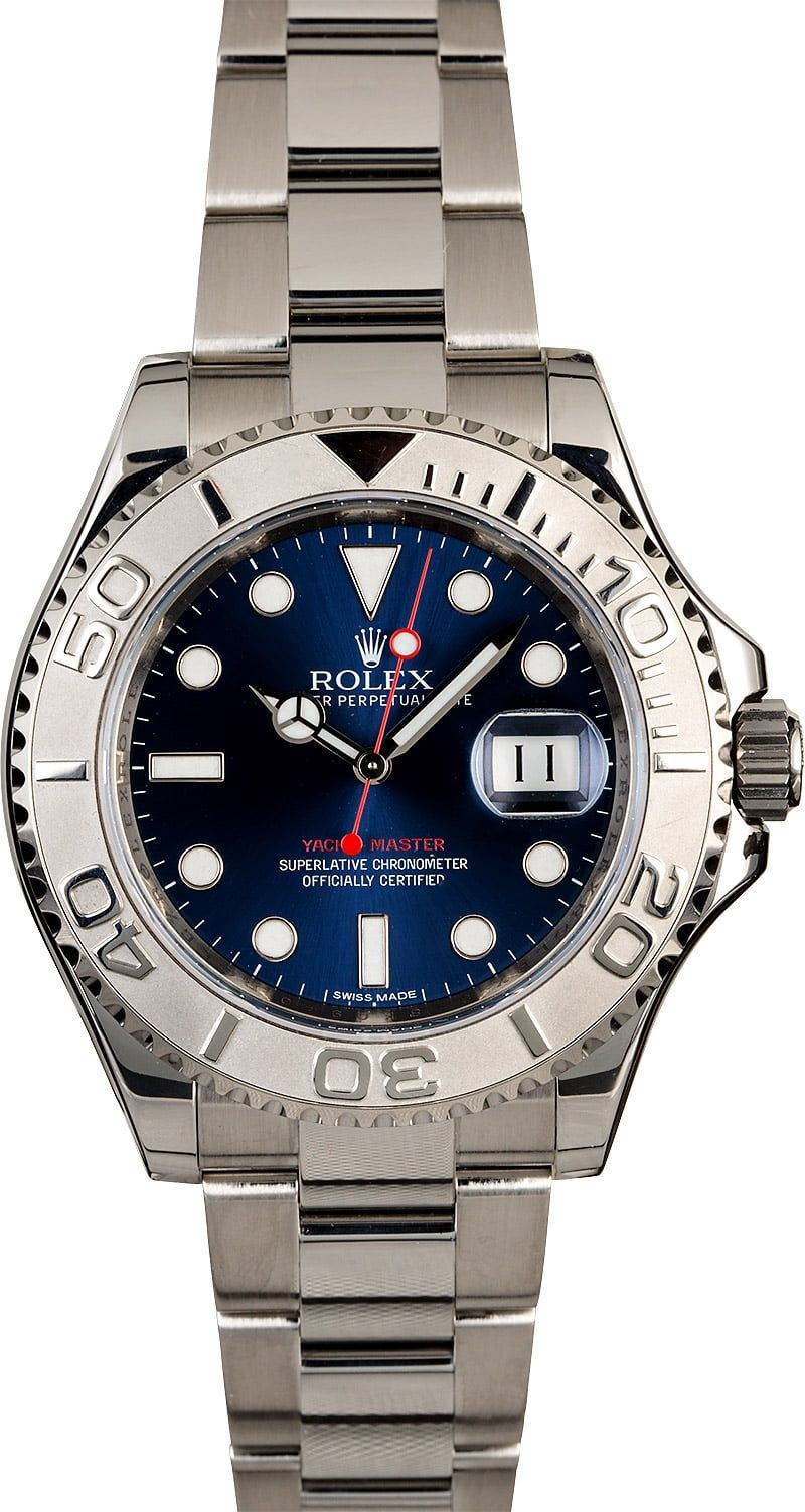 Men's Used Rolex YachtMaster 116622 Blue Dial Rolex