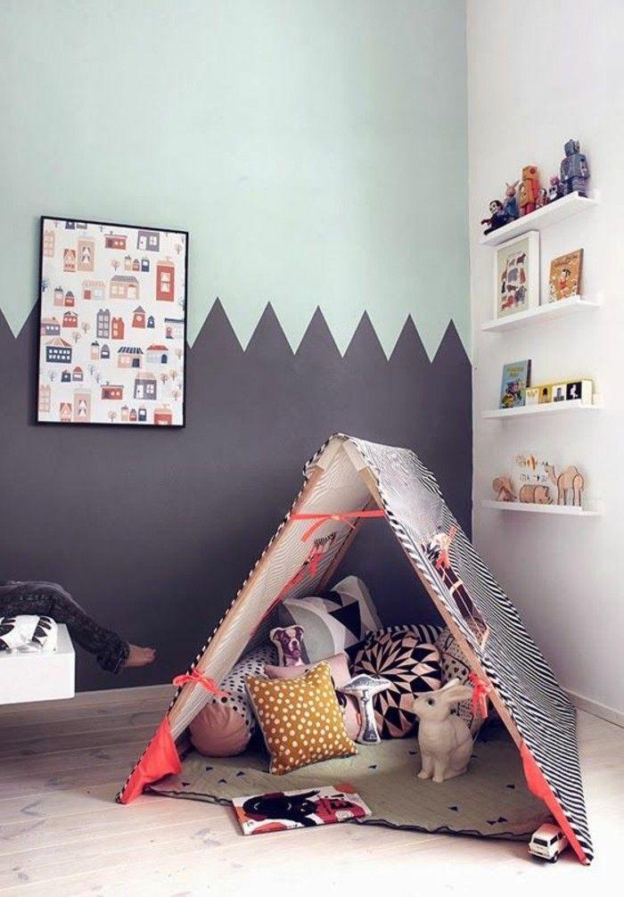 comment assortir les couleurs murales dans une chambre enfant design moderne