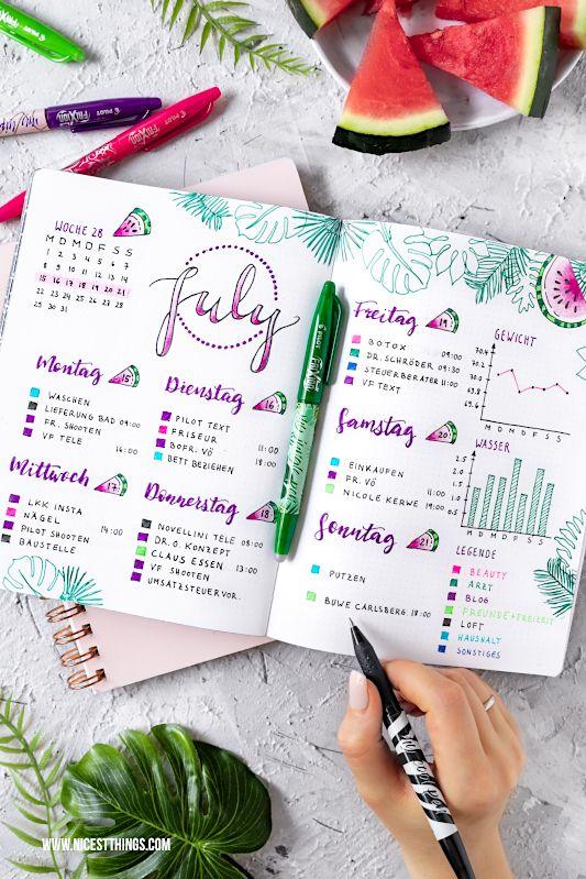 Bullet Journal Ideen: Planer individuell gestalten - Nicest Things