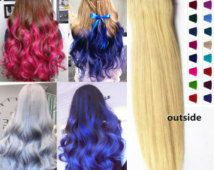 COLOR DIY #613- White Blonde 8A Indian Remy Clip-in/Halo Hair Extensions, One Piece Hair Weft RHS301