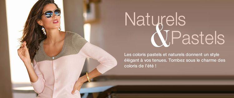 Les coloris pastels et naturels donnent un style élégant à vos tenues. Tombés sous le charme des coloris de l'été.