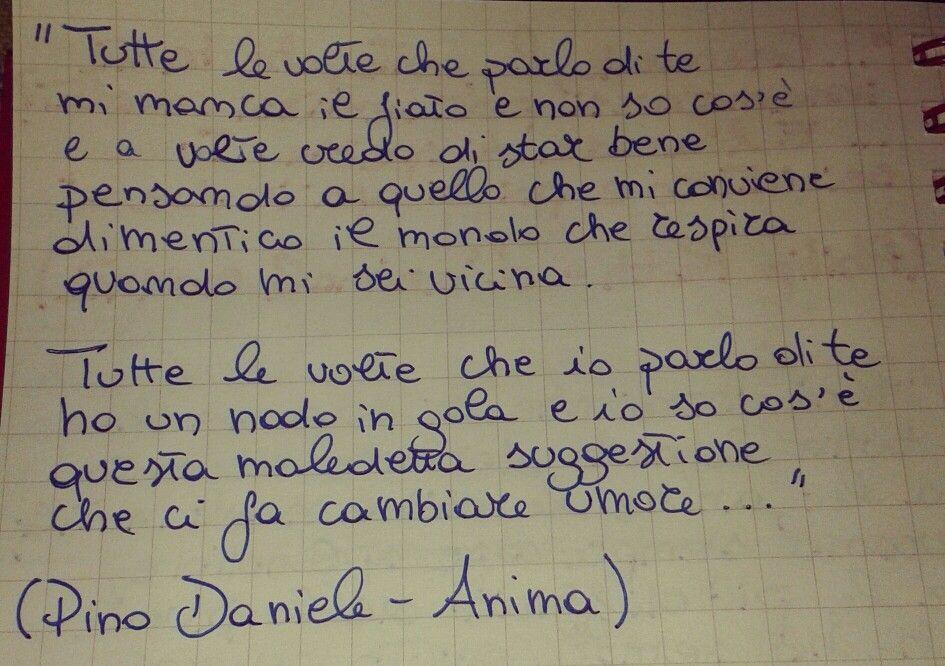 Pino Daniele Anima Love Music Citazioni Parole D Amore
