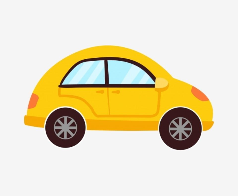 Yellow Car Cartoon Car Classic Cars Car Illustration Childrens