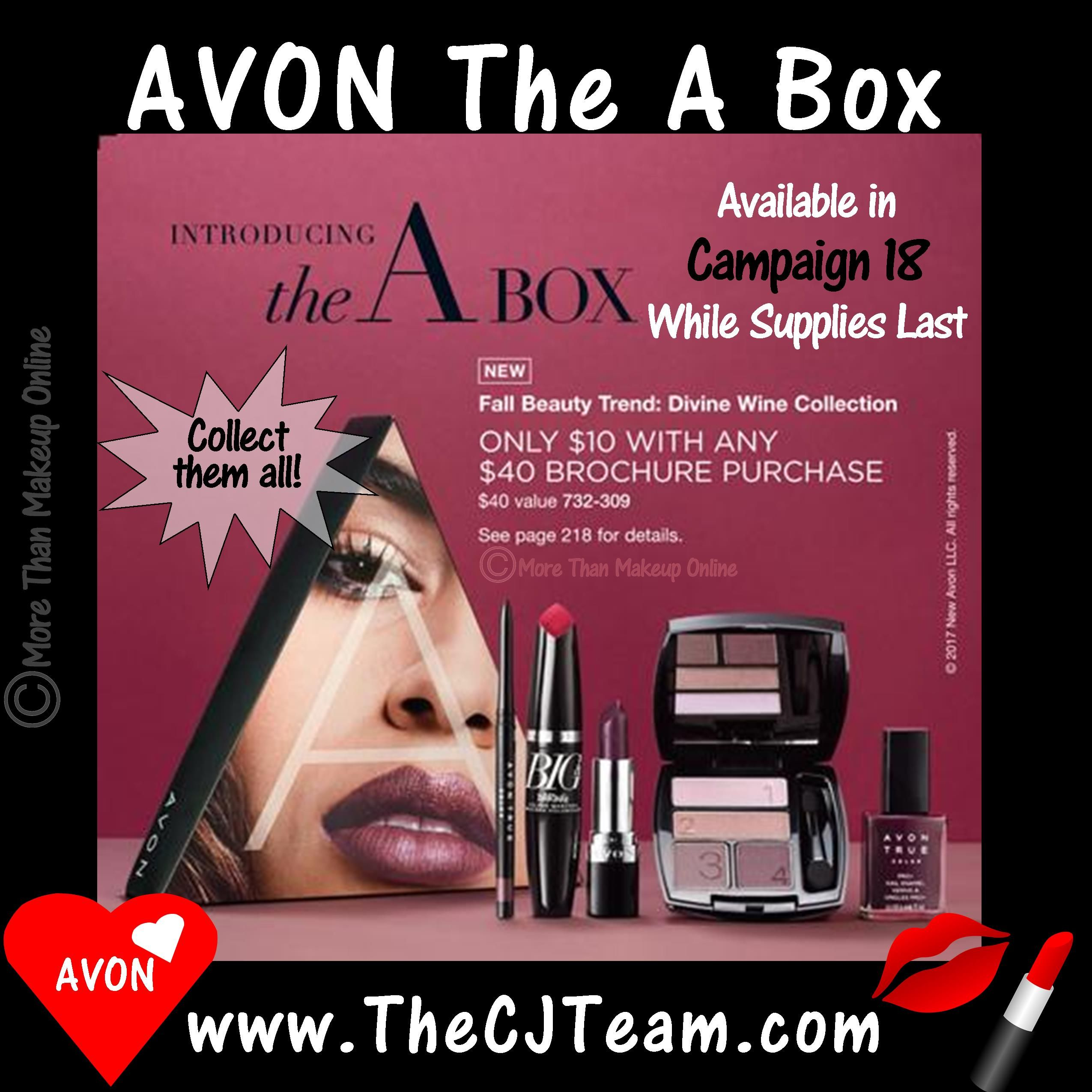 The Avon A Box Divine Wine Collection Each Avon Brochure Be Sure To Check Out A Fabulous New A Box Perfect Avon Skin So Soft Buy Avon Online Avon Online