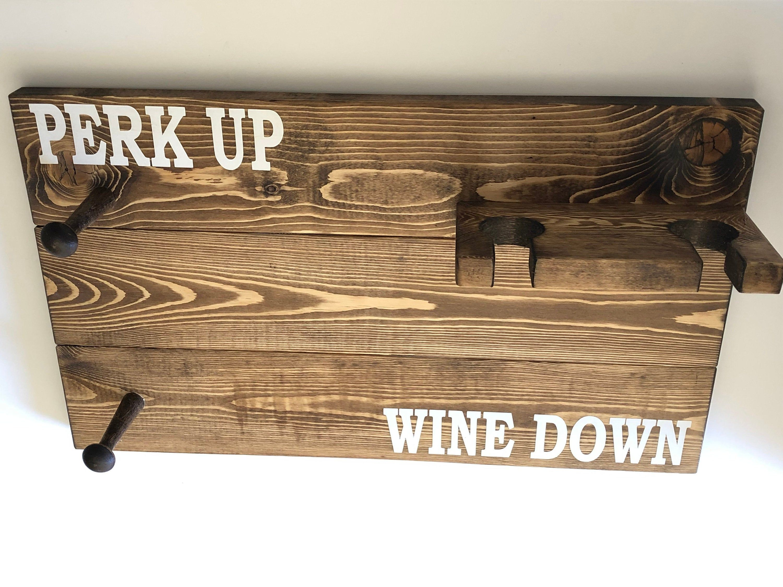 Coffee Sign Mug Rack Wine Rack Wine Lover Coffee Lover | Etsy