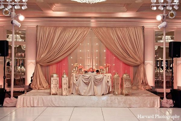 indian wedding reception venue decor http://maharaniweddings.com ...