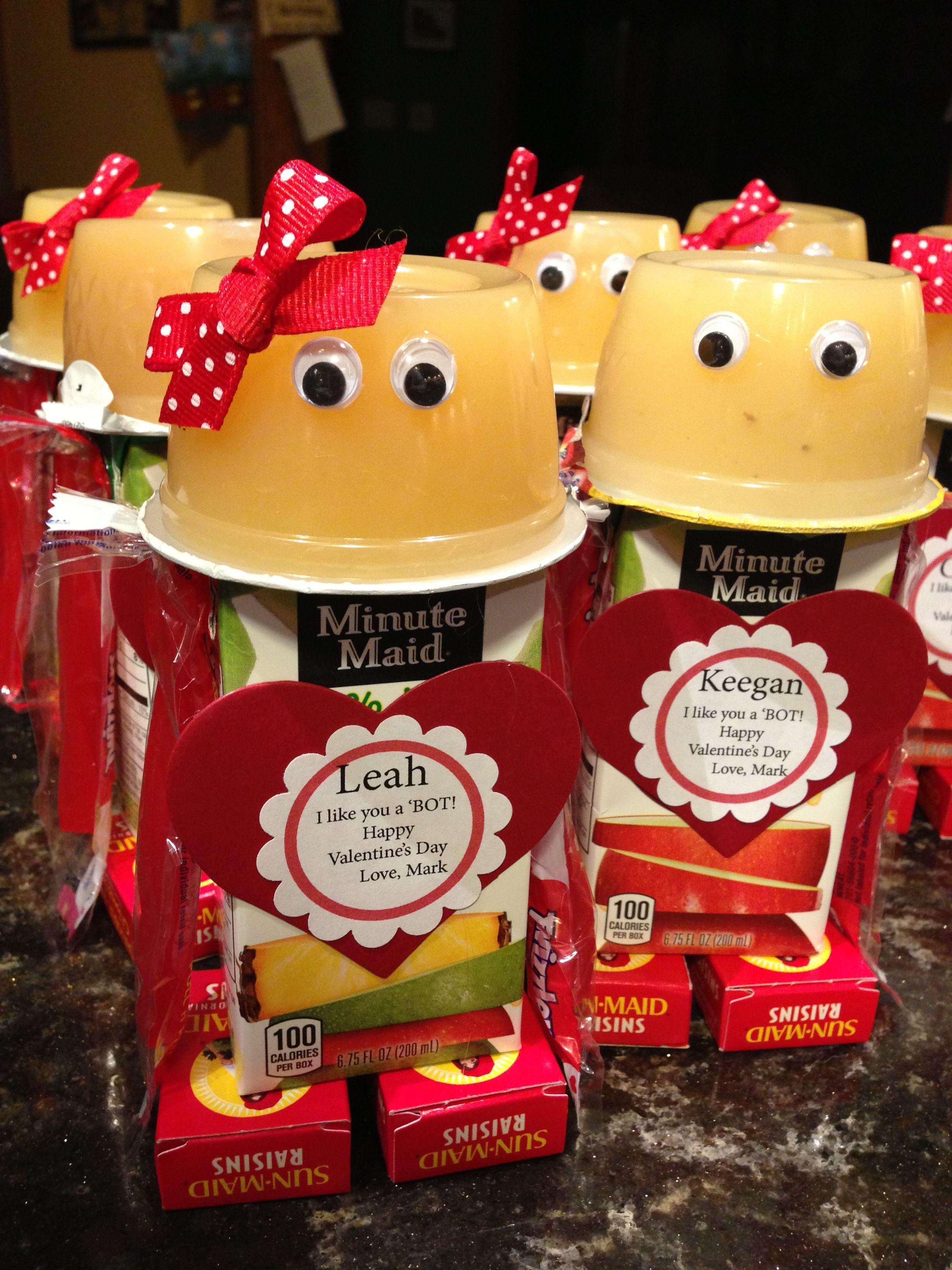 valentine juice box robot
