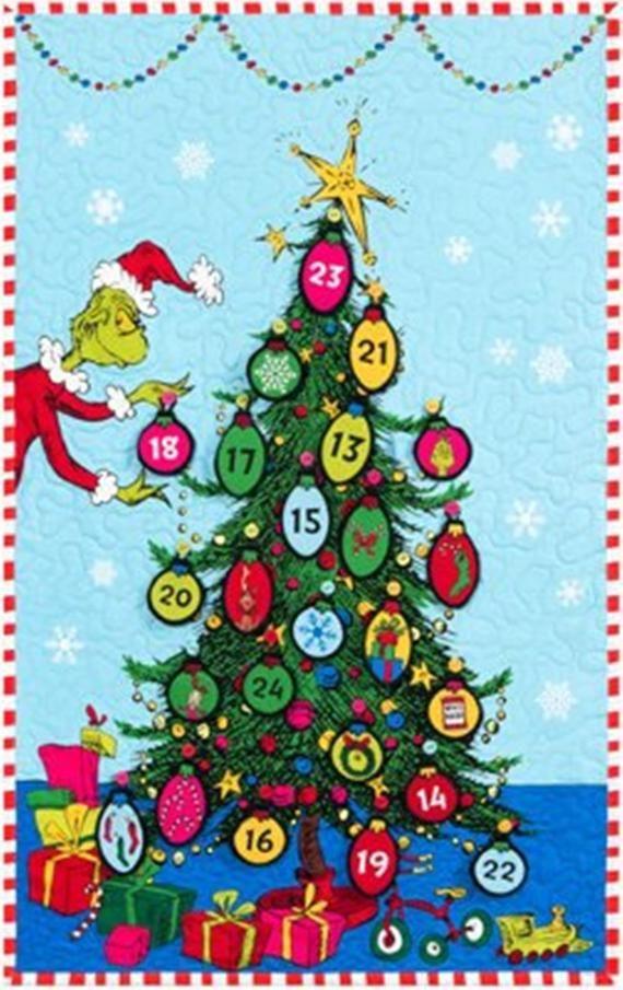 Grinchmas Advent Calendar Fabric Panel How The Grinch