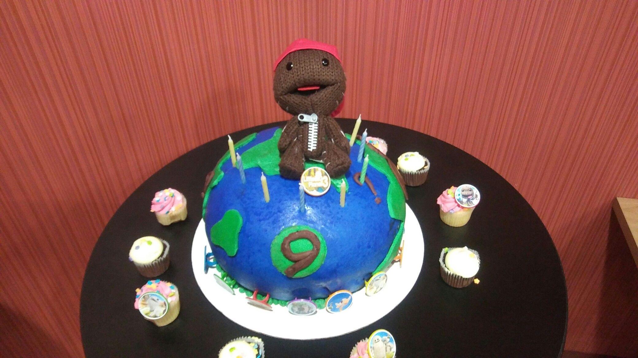 Peachy Little Big Planet Birthday Cake For 9 Year Old Planet Birthday Birthday Cards Printable Riciscafe Filternl