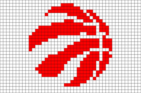 Toronto Raptors Pixel Art Pixel Art Perler Patterns
