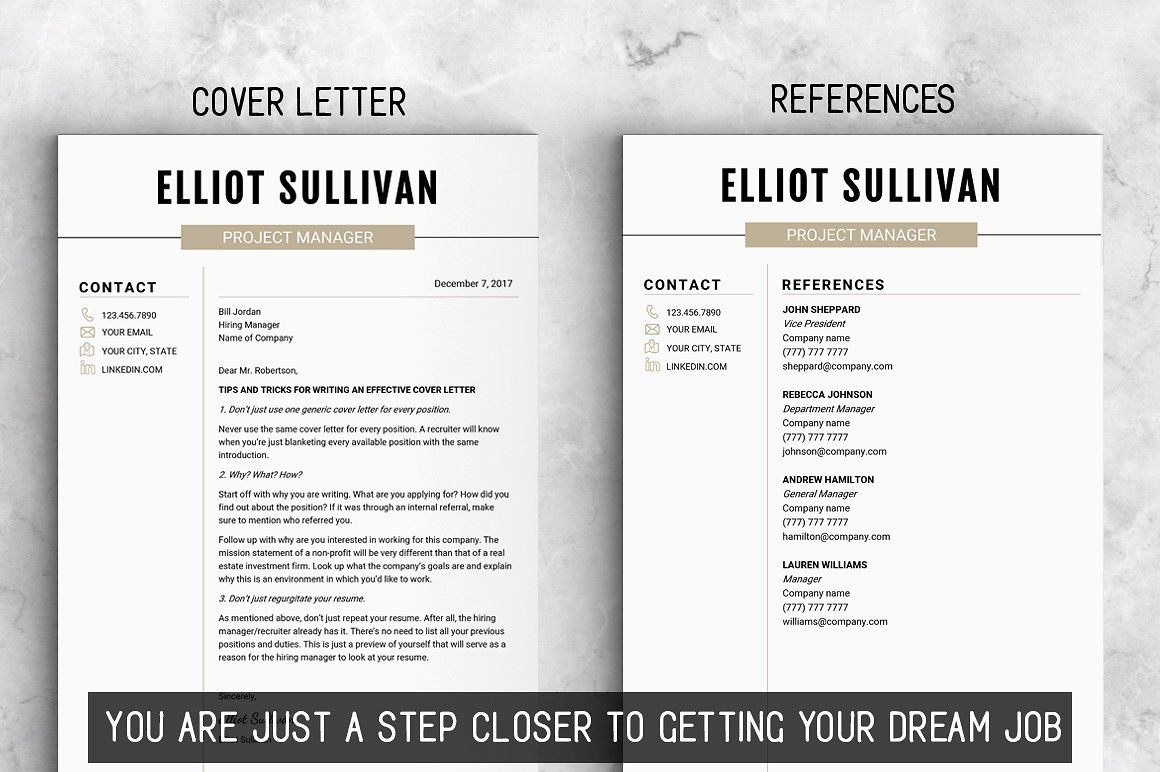 RESUME Design CV Template (MS Word) Resume design, Cv