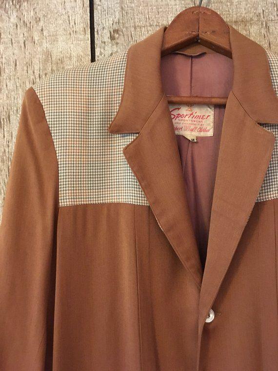 Size 40 Vintage 1950/'s-1960/'s LIGHTWEIGHT BUTTON DOWN POSTAL CLERK JACKET