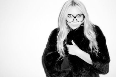Mary Kate Olsen in big and bold sunglasses.