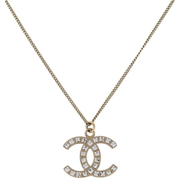 Pre owned chanel necklace pendant jumbo cc logo square baguette pre owned chanel necklace pendant jumbo cc logo square baguette 16785 aloadofball Images