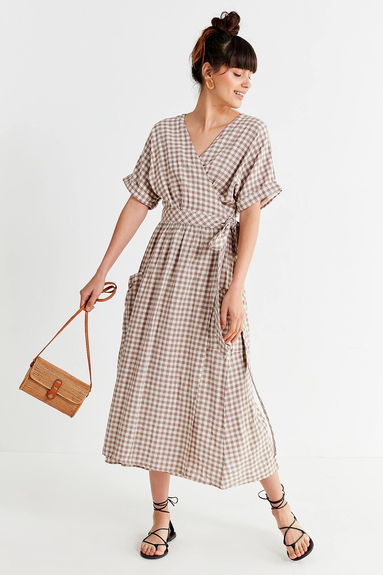 9823e6bc80b Shop UO Gabrielle Linen Midi Wrap Dress at Urban Outfitters today. We carry  all the latest styles