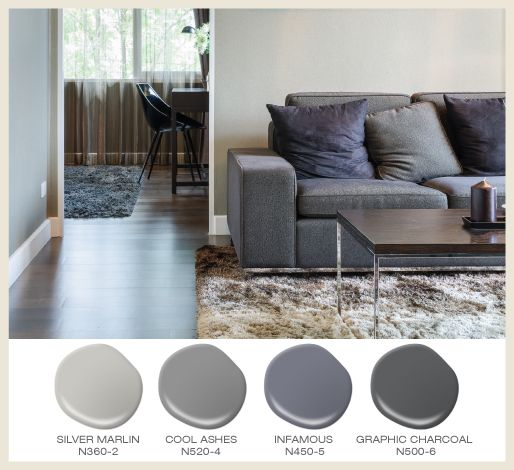 Mix and match textures when using tone on tone greys in a for How to mix grey paint