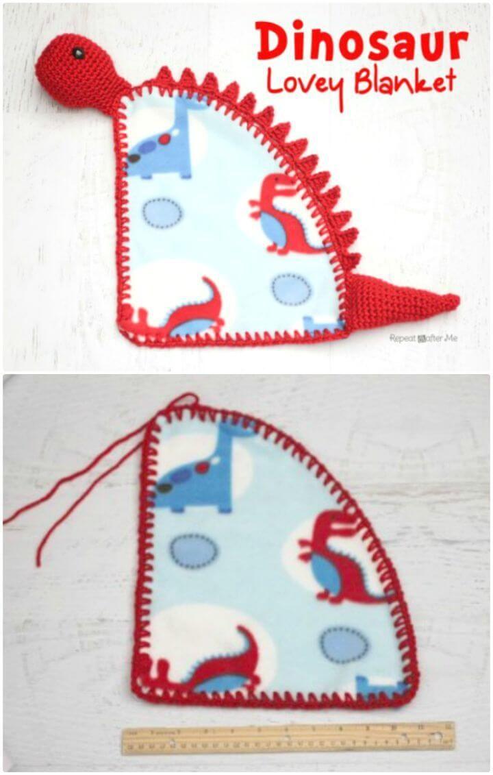 35 Free Crochet Lovey Patterns for Your Cute Baby #crochetdinosaurpatterns