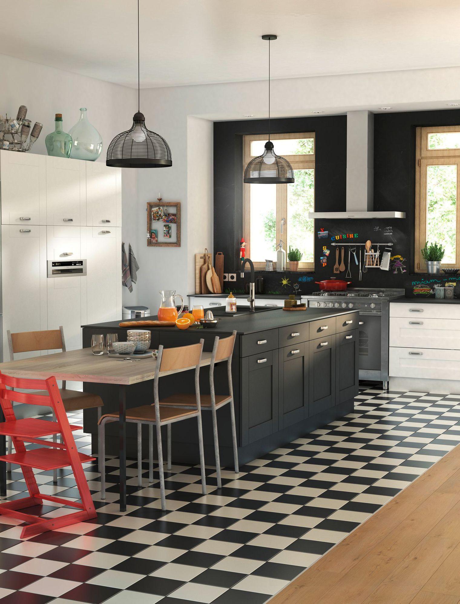 cuisine îlot central : 12 photos de cuisinistes | mitigeur de