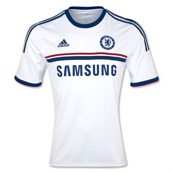 13-14 Chelsea White Away Soccer Jersey Shirt Replica  37d392471b2