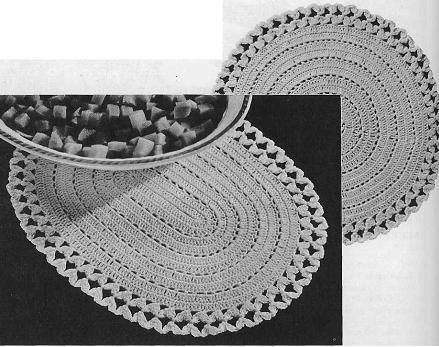Grandmother S Pattern Book Crochet Hot Plate Mats Placemats Patterns Crochet Placemat Patterns Crochet Placemats
