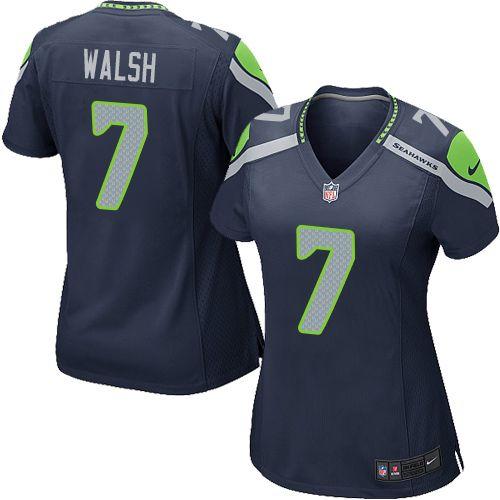 Women s Nike Seattle Seahawks  7 Blair Walsh Game Steel Blue Team Color NFL  Jersey d7df254b0