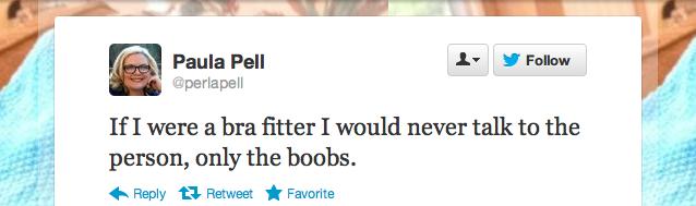 Paula Pell imagines her career as a bra fitter