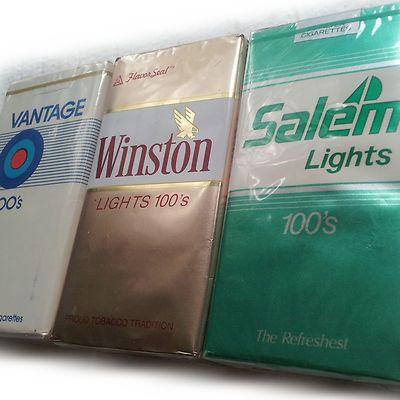 Vintage 1980s Old Salem Cigarettes Soft Foil Pack 3 Full SEALED Unopened Variety | eBay