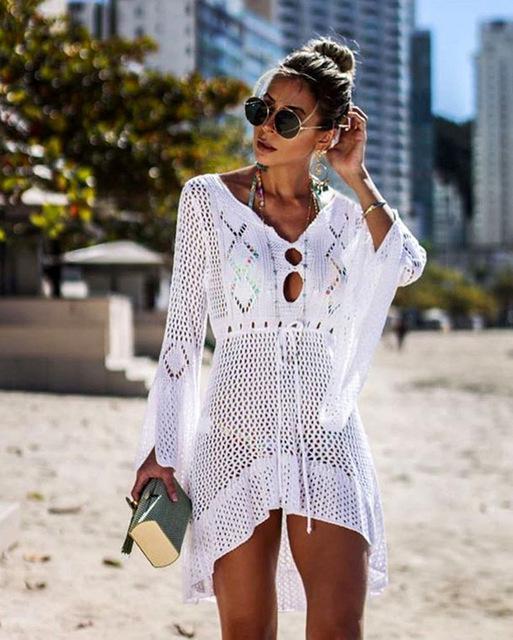 c619fa62dafe3 The Medusa Beach Cover Up in 2019 | stacy | Crochet tunic, Swimwear ...