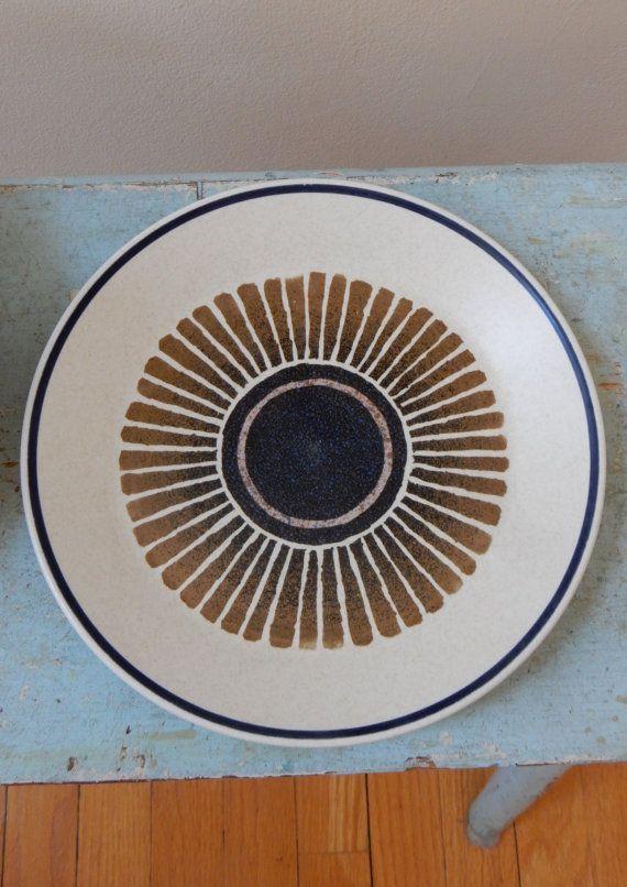 Set of 6 Stoneware Salad Dessert Plates by TooArtfulForYou on Etsy