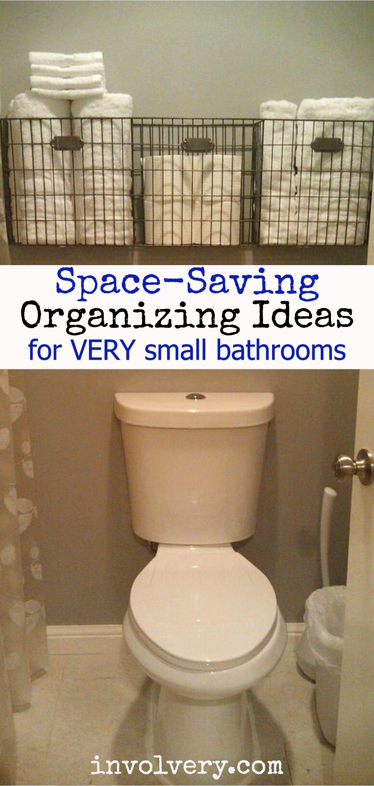 Creative Bathroom Storage Solutions For Small Bathrooms And Organization Ideas We Love Very Small Bathroom Space Saving Bathroom Small Bathroom Organization