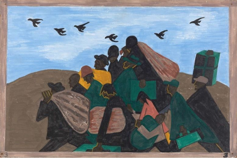 Jacob Lawrence, The Migration Series, Panel no. 3 From