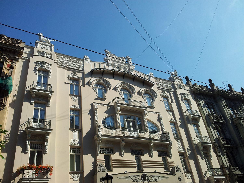 I love these wonderful #window shapes in Alberta street, #Riga #FriFotos